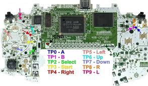 GBA PCB Pinouts
